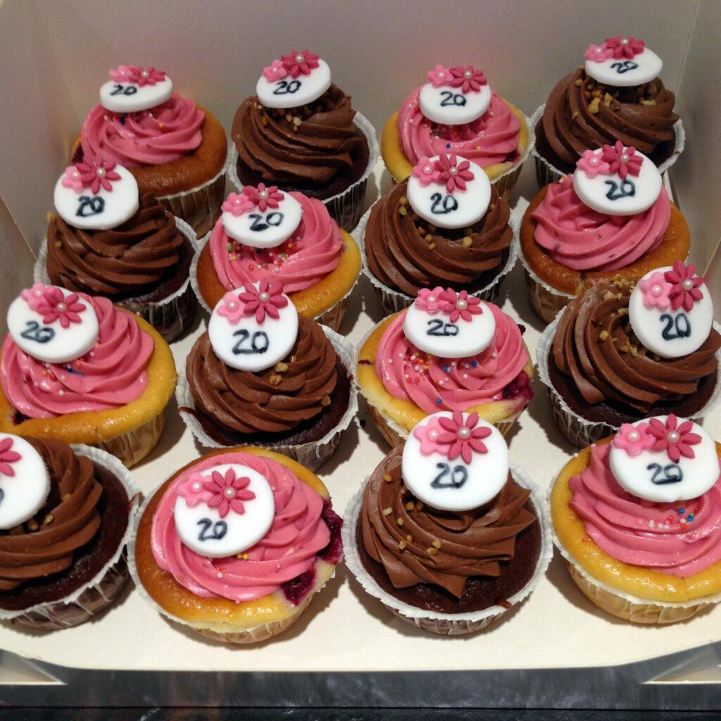 Jubiläums-Cupcakes